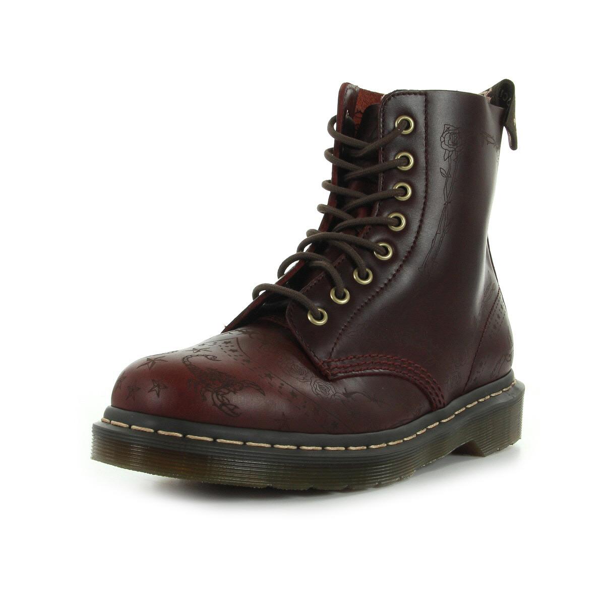 bottines doc martens homme darci brando taille marron cuir lacets ebay. Black Bedroom Furniture Sets. Home Design Ideas