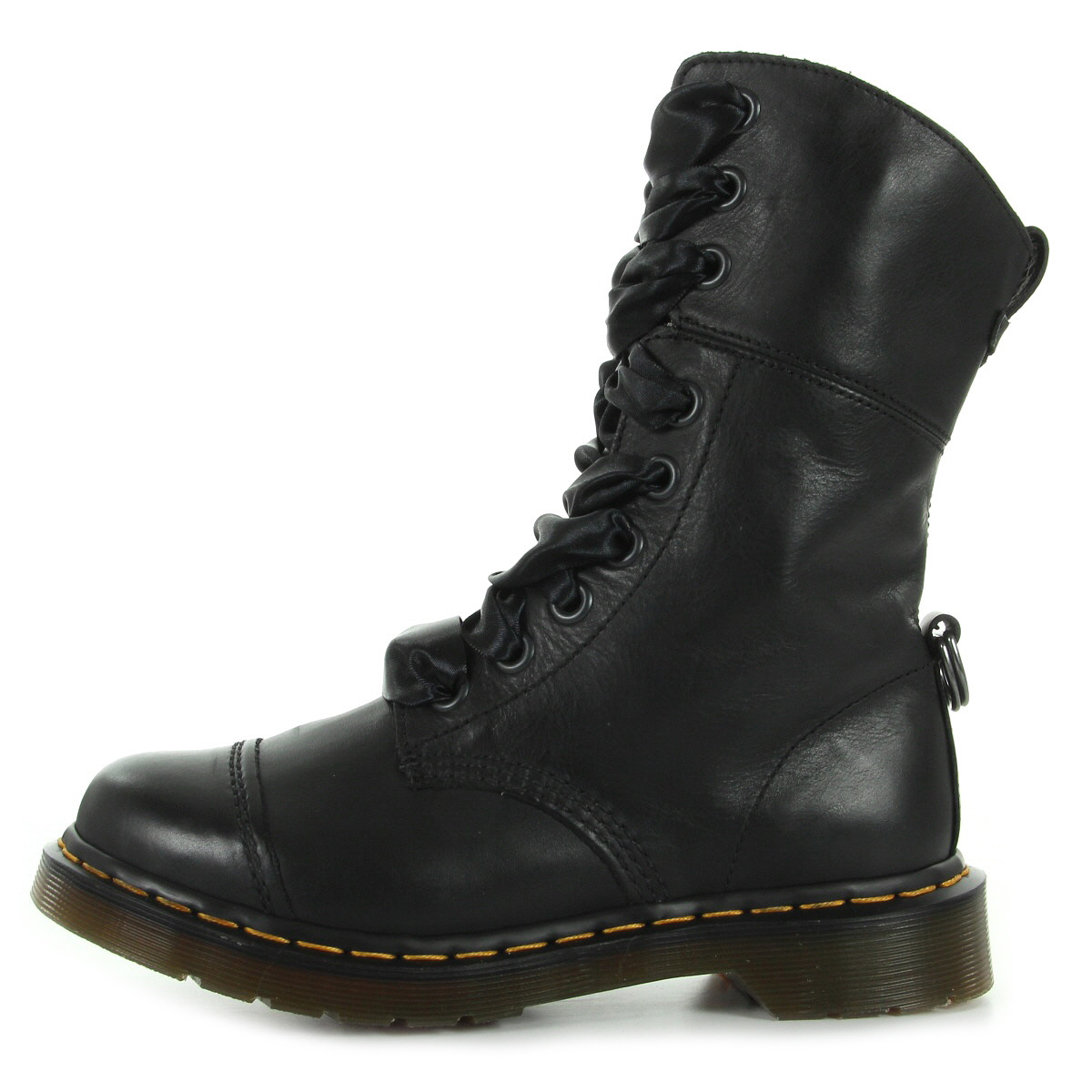 bottines doc martens femme aimilita taille noir noire cuir lacets ebay. Black Bedroom Furniture Sets. Home Design Ideas