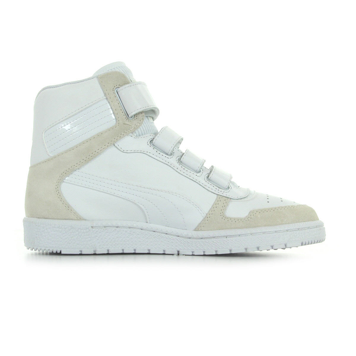 chaussures baskets puma femme sky 3 taille blanc blanche cuir lacets ebay. Black Bedroom Furniture Sets. Home Design Ideas