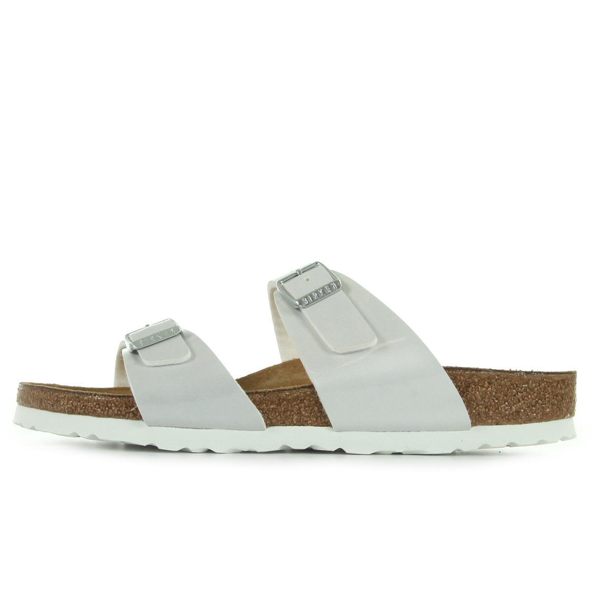 sandales nu pieds birkenstock femme sydney taille blanc nacr blanche. Black Bedroom Furniture Sets. Home Design Ideas