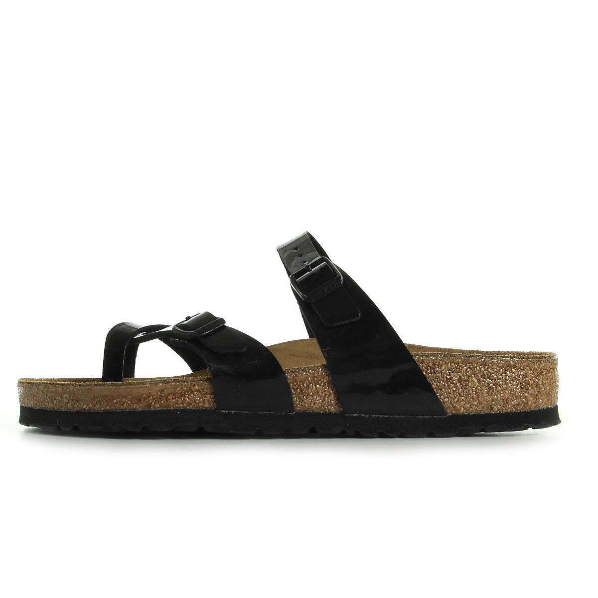 sandales nu pieds birkenstock femme mayari taille noir noire cuir a boucles ebay. Black Bedroom Furniture Sets. Home Design Ideas