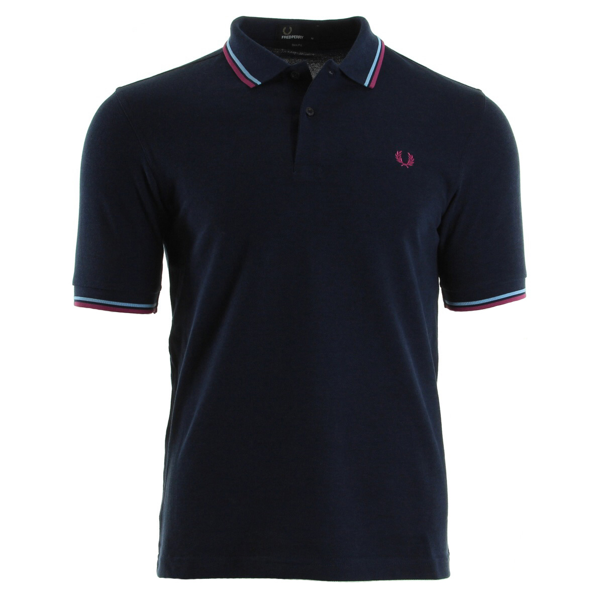 v tement polo fred perry homme twin tipped shirt taille bleu coton manches ebay. Black Bedroom Furniture Sets. Home Design Ideas