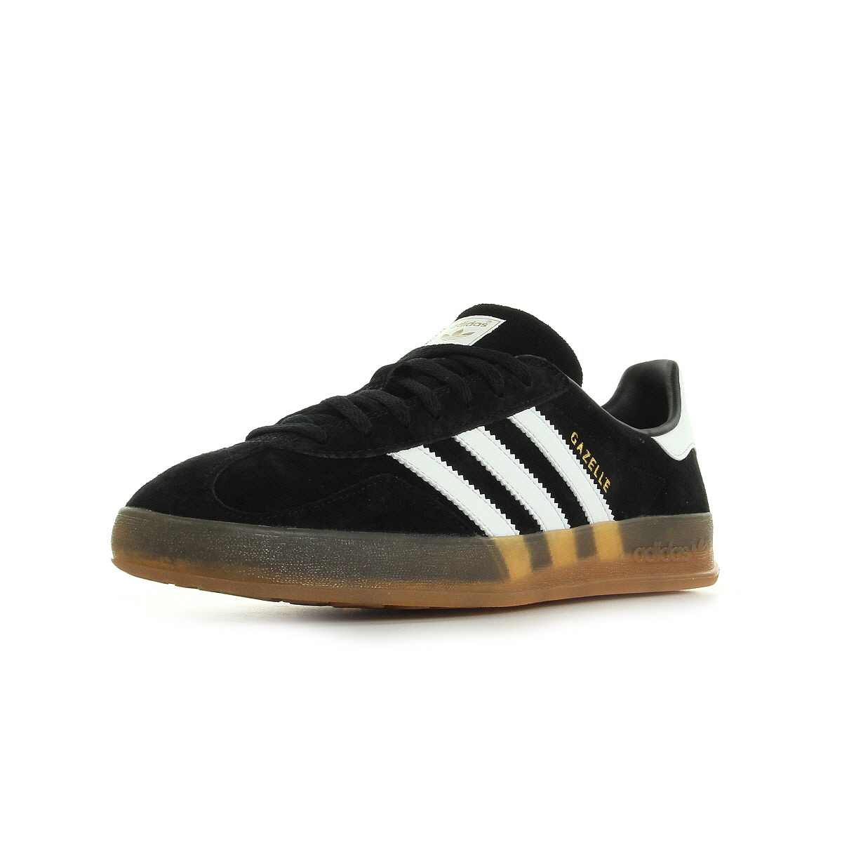 chaussures baskets adidas homme gazelle indoor taille noir noire cuir lacets ebay. Black Bedroom Furniture Sets. Home Design Ideas