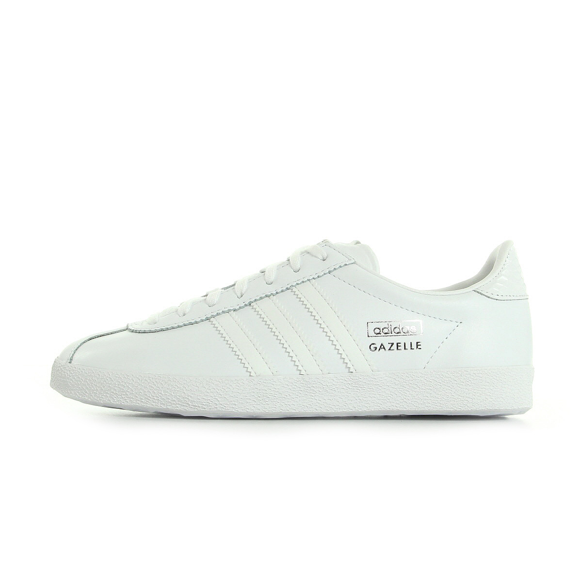 chaussures baskets adidas femme gazelle og w taille blanc blanche cuir lacets ebay. Black Bedroom Furniture Sets. Home Design Ideas