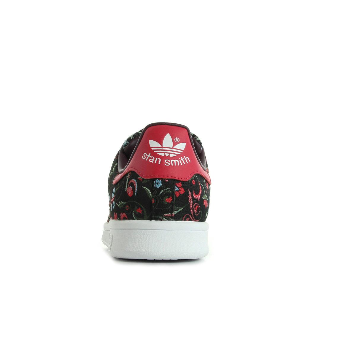 chaussures baskets adidas femme stan smith taille noir noire textile lacets ebay. Black Bedroom Furniture Sets. Home Design Ideas