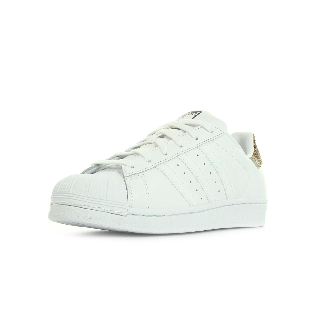 chaussures baskets adidas femme superstar w taille blanc blanche cuir lacets ebay. Black Bedroom Furniture Sets. Home Design Ideas