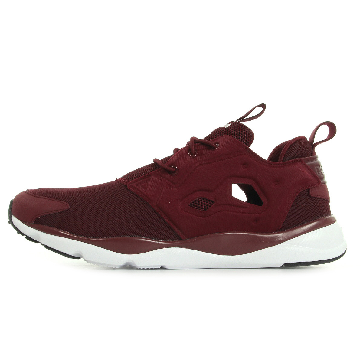 chaussures baskets reebok femme furylite taille bordeaux textile lacets ebay. Black Bedroom Furniture Sets. Home Design Ideas