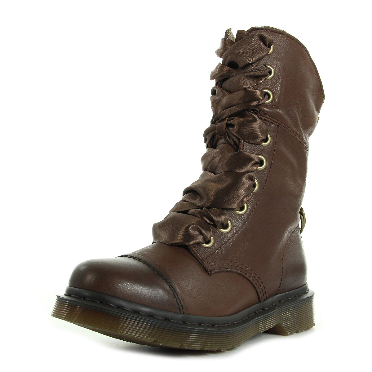 bottes dr martens femme aimilita taille marron cuir lacets ebay. Black Bedroom Furniture Sets. Home Design Ideas