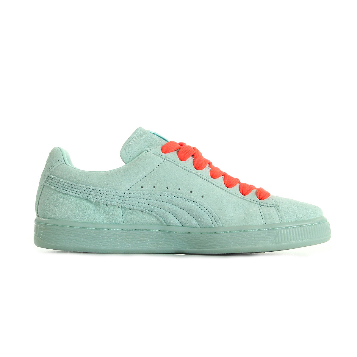 chaussures baskets puma femme suede mono iced taille vert d 39 eau verte cuir ebay. Black Bedroom Furniture Sets. Home Design Ideas