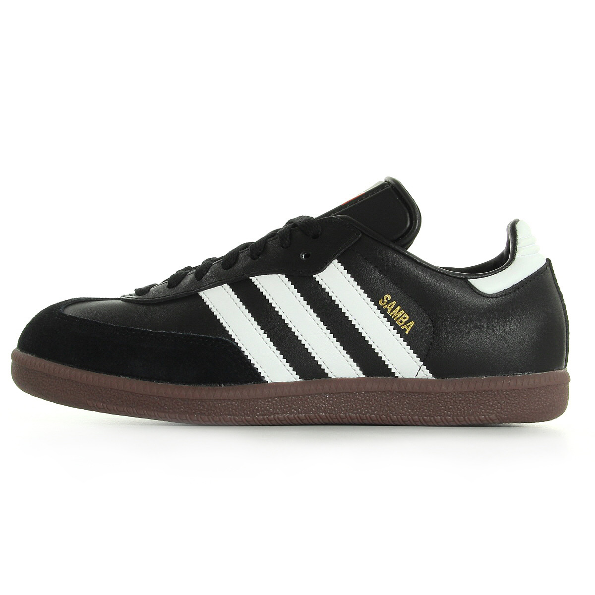 chaussures baskets adidas homme samba taille noir noire cuir lacets ebay. Black Bedroom Furniture Sets. Home Design Ideas