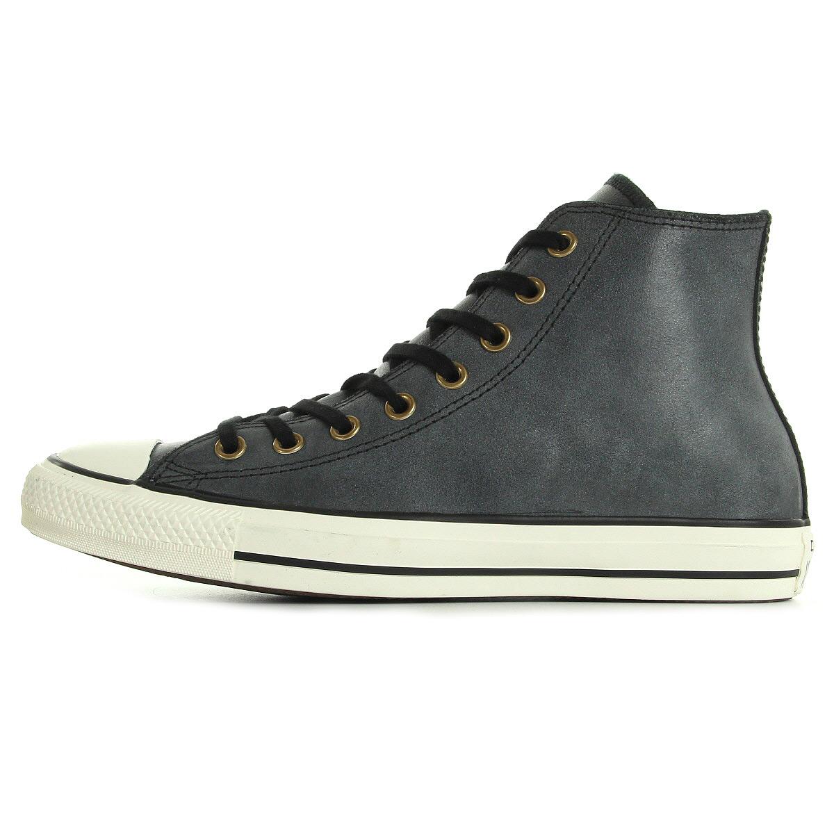 chaussures baskets converse homme ct hi black taille noir noire cuir lacets ebay. Black Bedroom Furniture Sets. Home Design Ideas