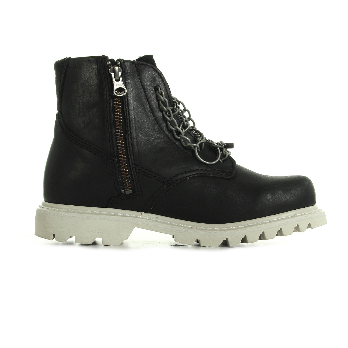 chaussures boots caterpillar femme grid adorn taille noir noire cuir lacets ebay. Black Bedroom Furniture Sets. Home Design Ideas