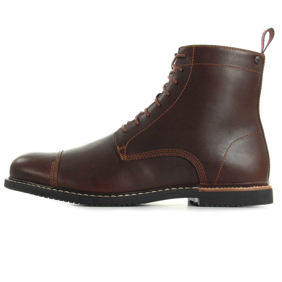 bottines timberland homme ek brook prk taille marron cuir lacets ebay. Black Bedroom Furniture Sets. Home Design Ideas