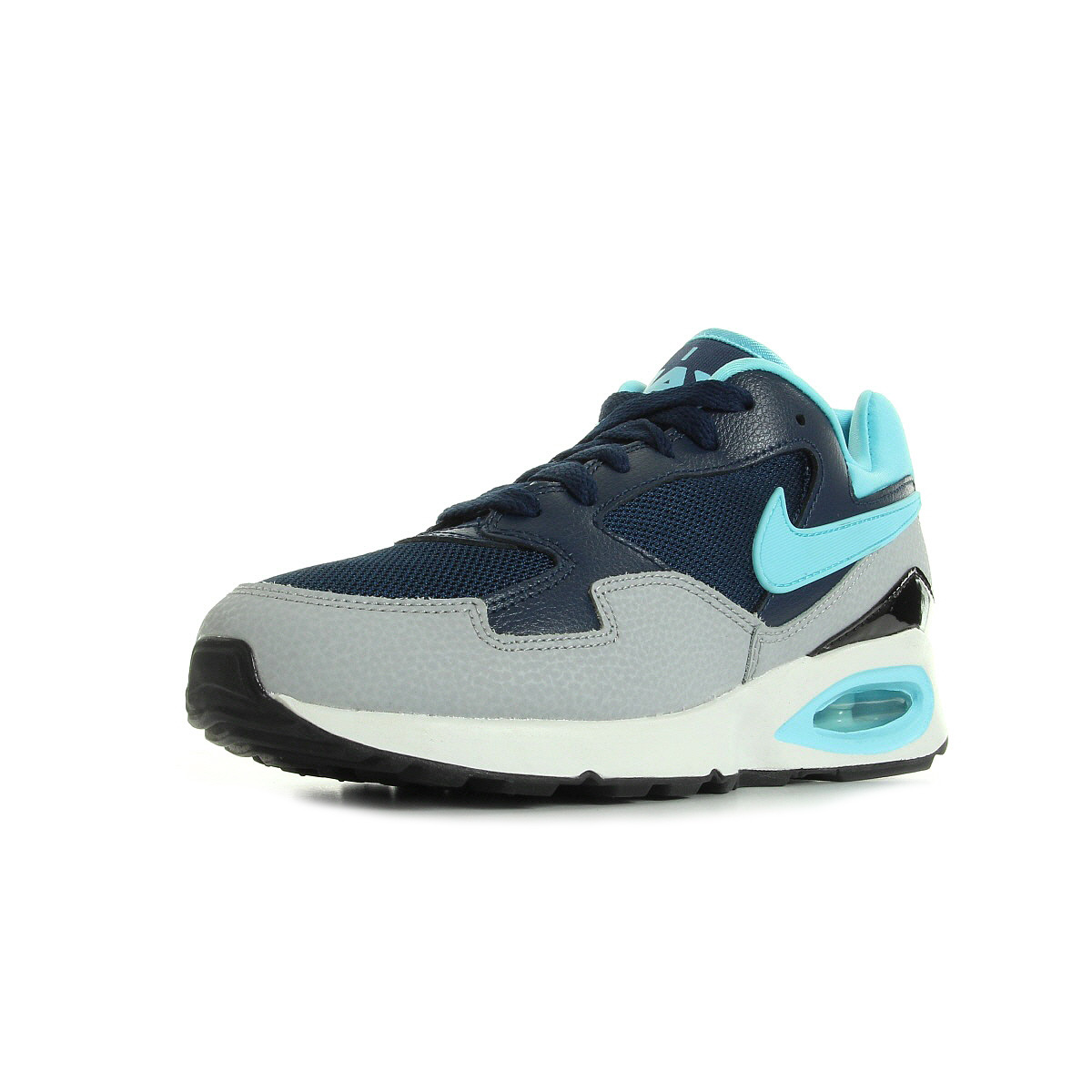 chaussures baskets nike femme air max st taille gris grise textile lacets ebay. Black Bedroom Furniture Sets. Home Design Ideas