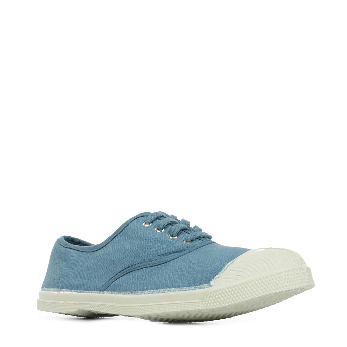 chaussures baskets bensimon femme ten lacet denim taille bleu bleue textile. Black Bedroom Furniture Sets. Home Design Ideas
