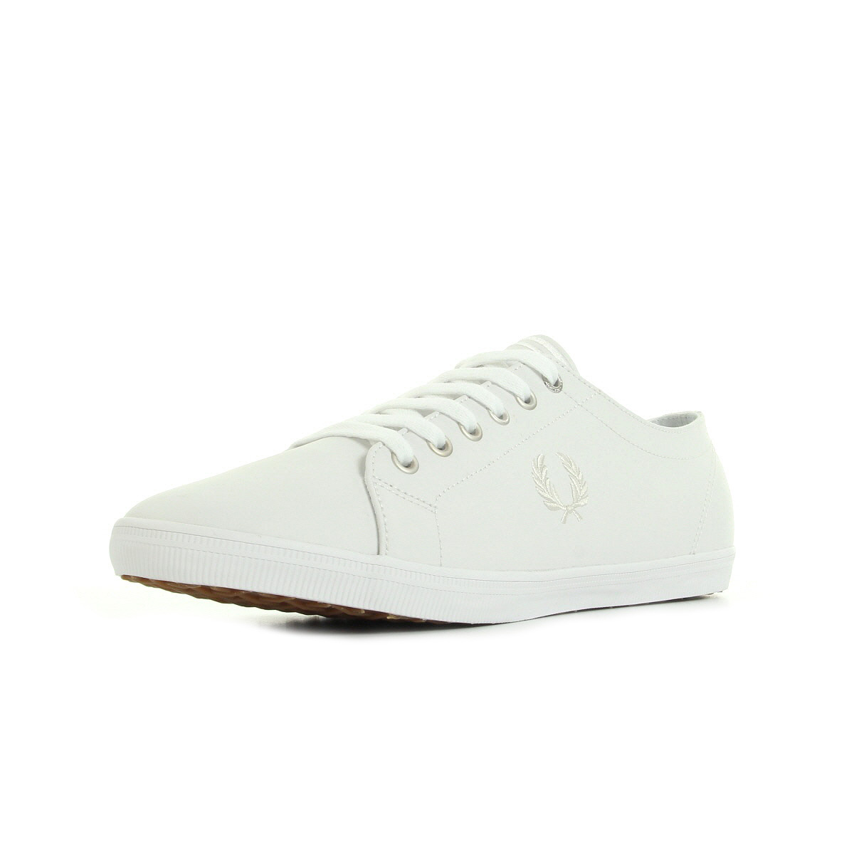 homme Chaussures Leather Baskets taille Kingston Perry Fred White vn8Oq6