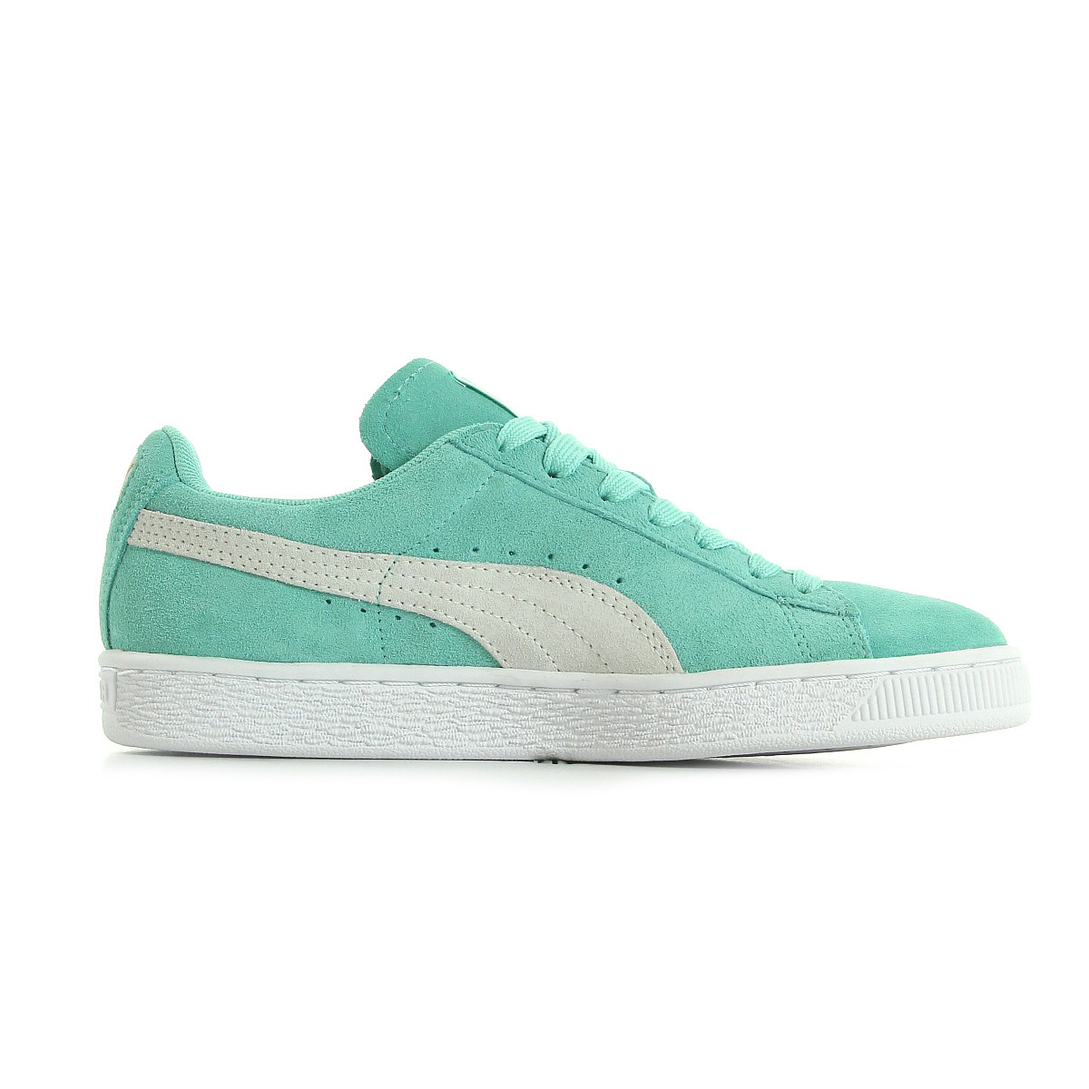 chaussures baskets puma femme suede classic wn 39 s taille vert verte cuir lacets ebay. Black Bedroom Furniture Sets. Home Design Ideas