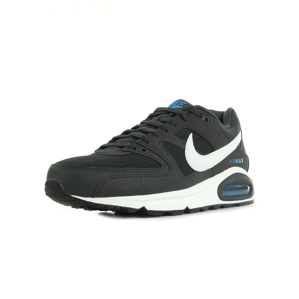 chaussures baskets nike homme air max command taille gris grise cuir lacets ebay. Black Bedroom Furniture Sets. Home Design Ideas
