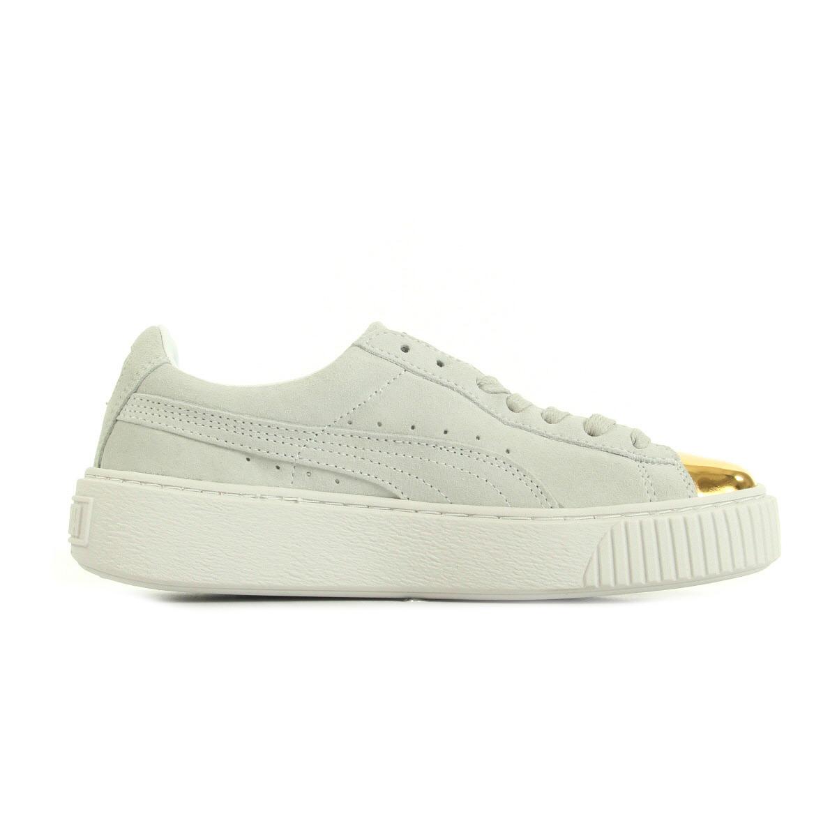 chaussures baskets puma femme suede platform gold taille gris grise cuir lacets ebay. Black Bedroom Furniture Sets. Home Design Ideas