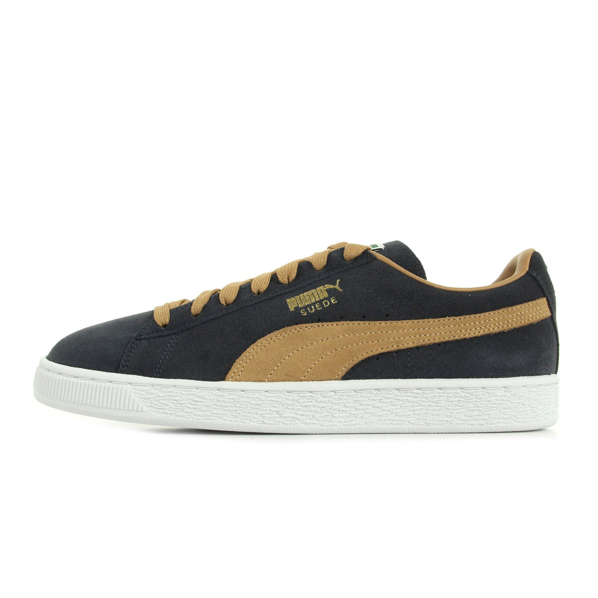 chaussures baskets puma homme suede classic taille bleu marine bleue cuir lacets ebay. Black Bedroom Furniture Sets. Home Design Ideas