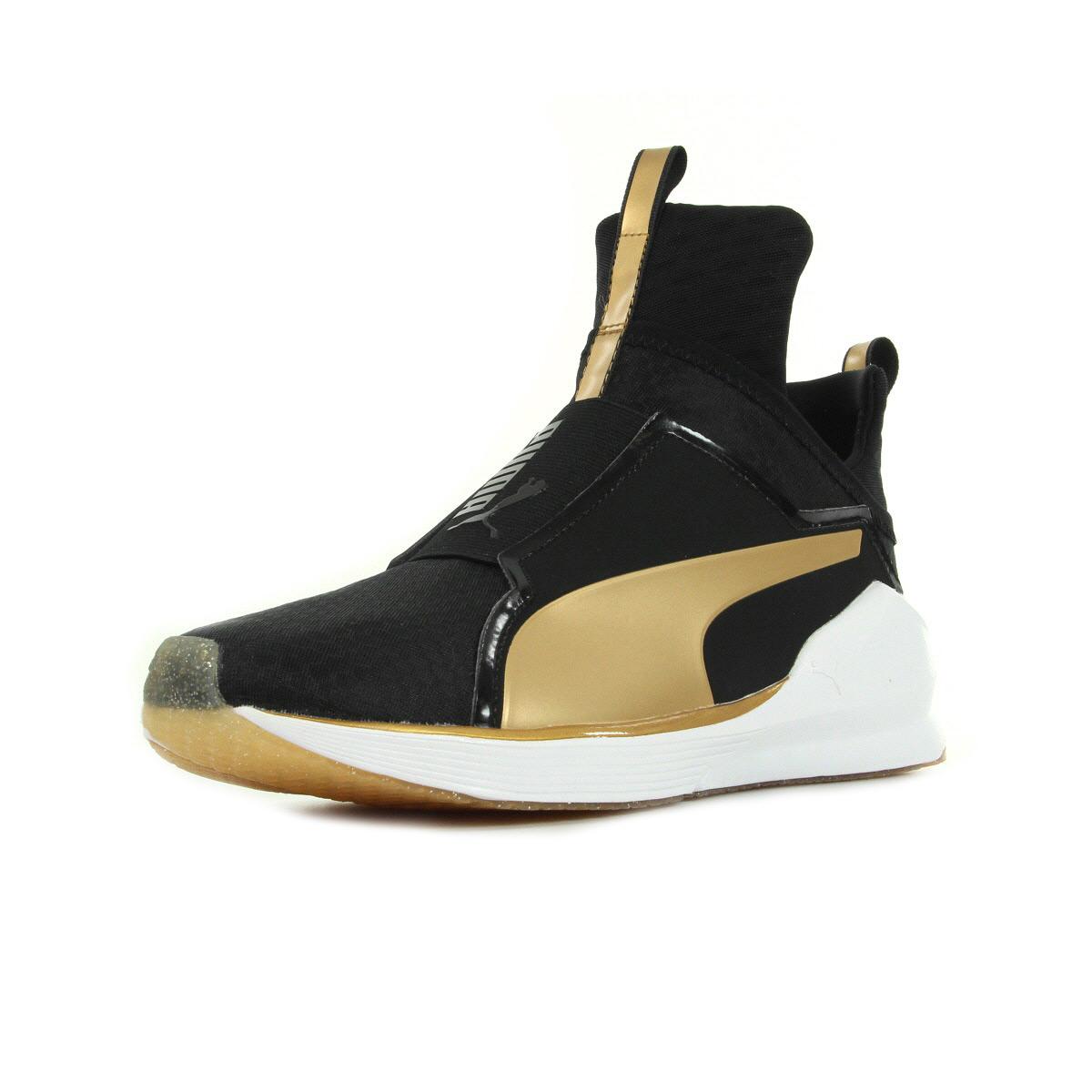 Chaussures Baskets Puma femme Fierce GOLD taille Noir Noire Textile A enfiler
