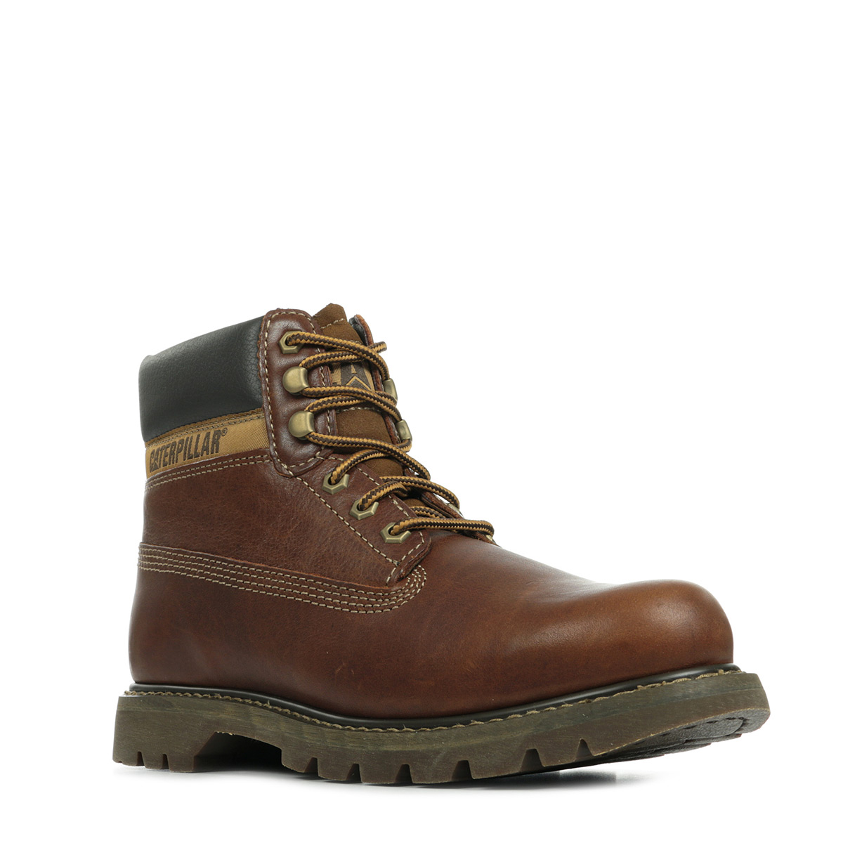 68eb59fbbce55e Chaussures Boots Caterpillar homme Colorado taille Marron Cuir ...