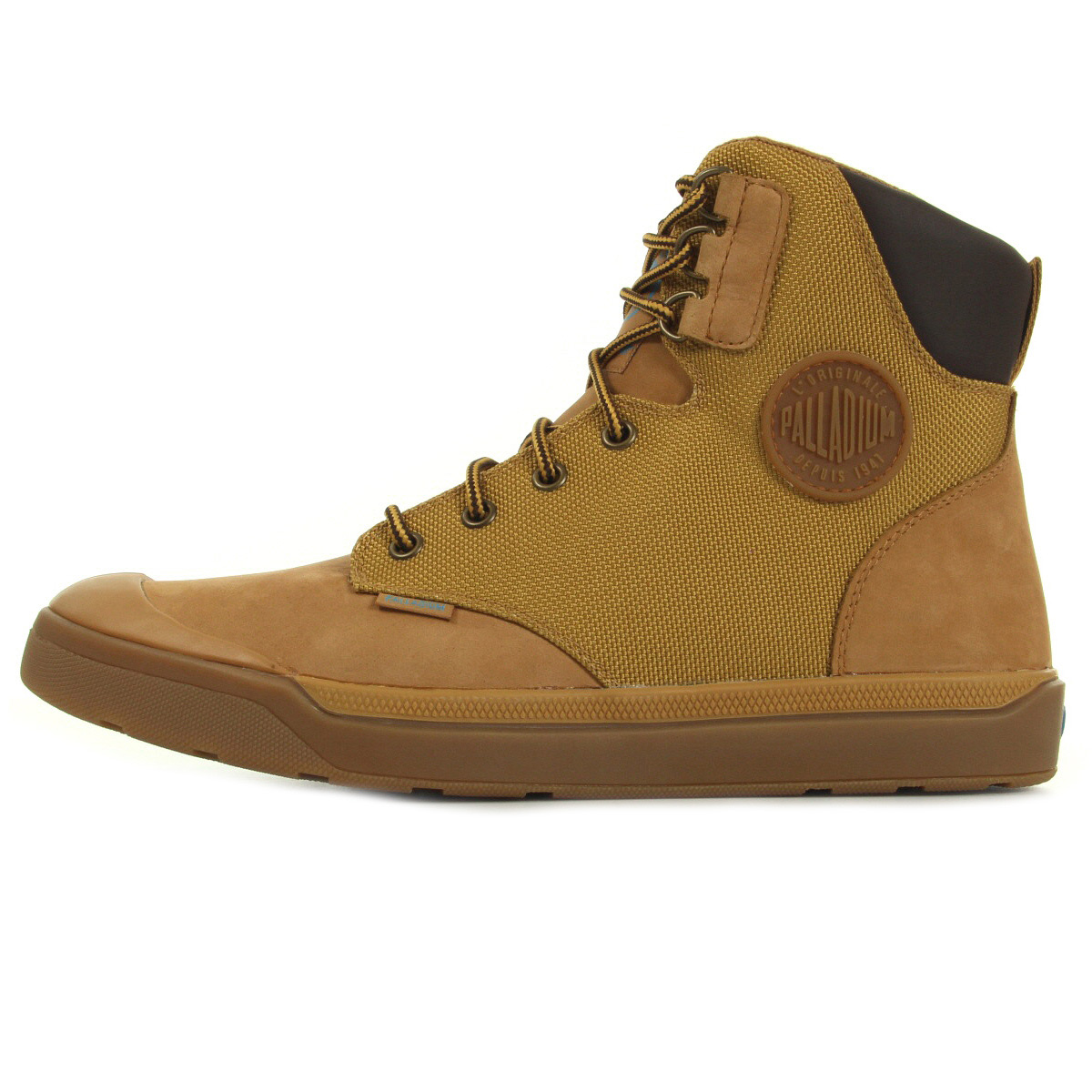Palladium Palaru Hi Waterproof Amber Gold Mid H 74424846, Boots homme