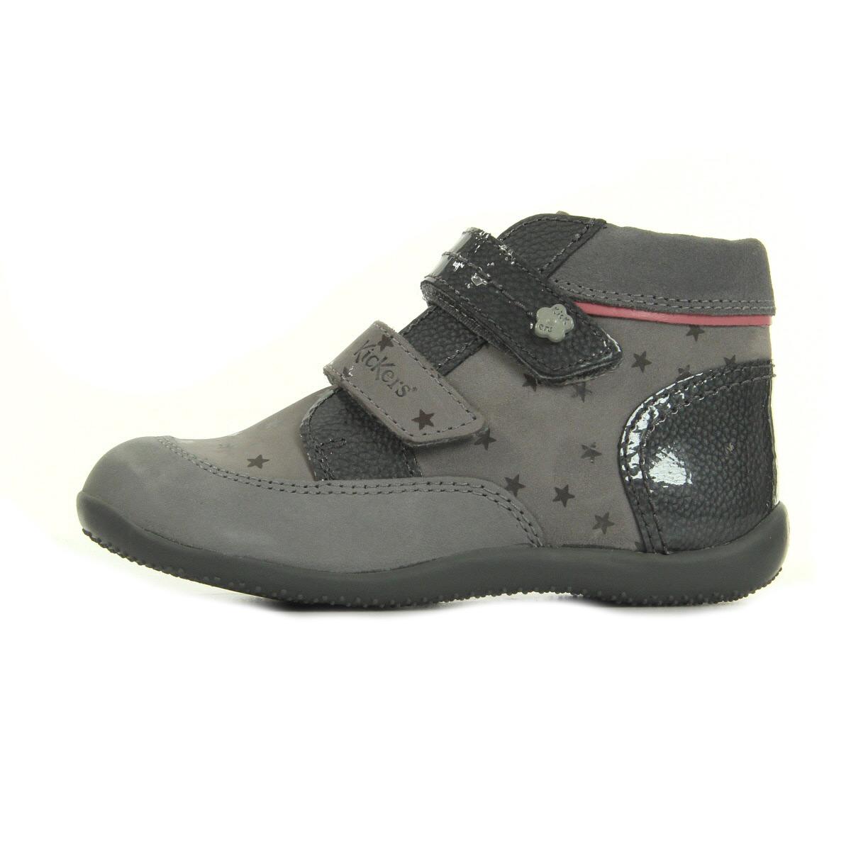kickers biliana gris etoile 50868010123 chaussures homme. Black Bedroom Furniture Sets. Home Design Ideas