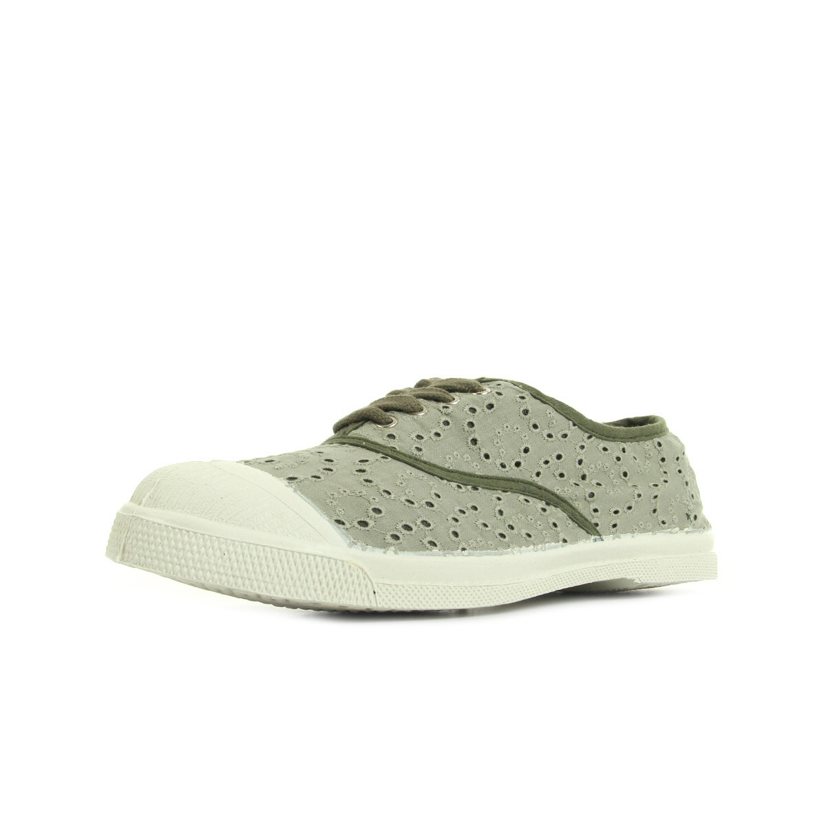 bensimon tennis broderie anglaise kaki clair f15004c247612 chaussures homme homme. Black Bedroom Furniture Sets. Home Design Ideas