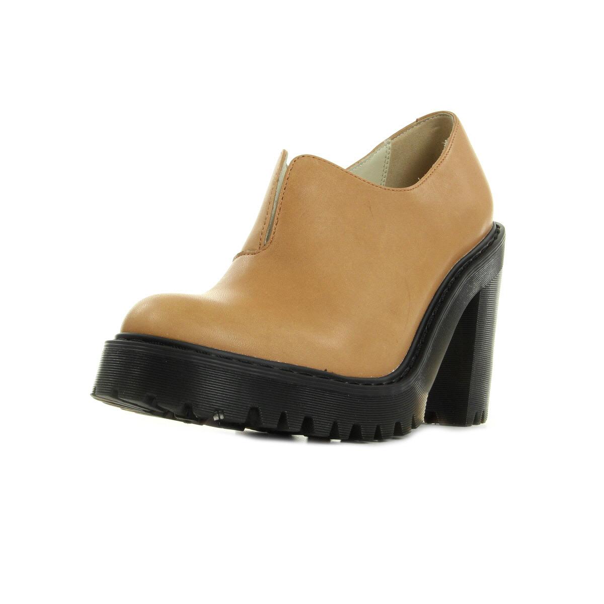 Chaussures Escarpins Dr Martens femme Cordelia Slip on Shoe taille Camel Cuir A