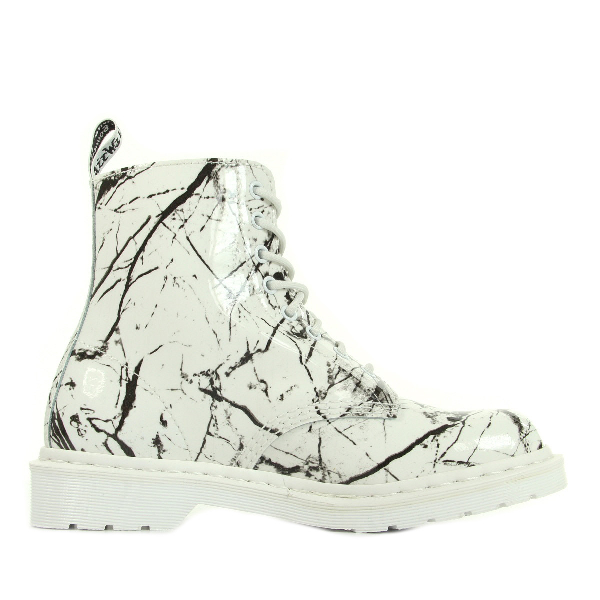 Chaussures Doc Martens Pascal White patent marble femme 21443100 OMqkhRb