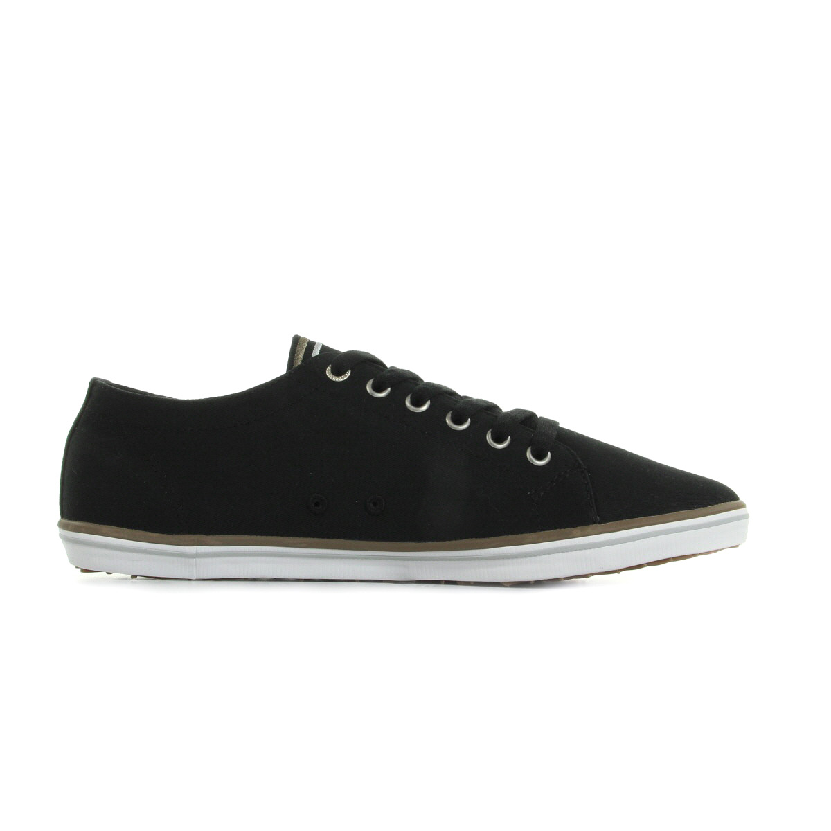 Fred Perry Kingston Twill Black Driftwood B6259U184, Baskets mode homme