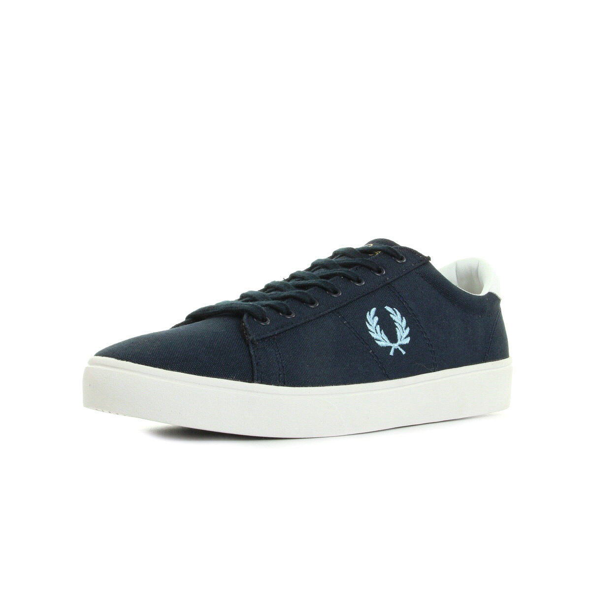 Fred Perry Spencer Canvas Navy Sky Blue bleu - Chaussures Basket Homme