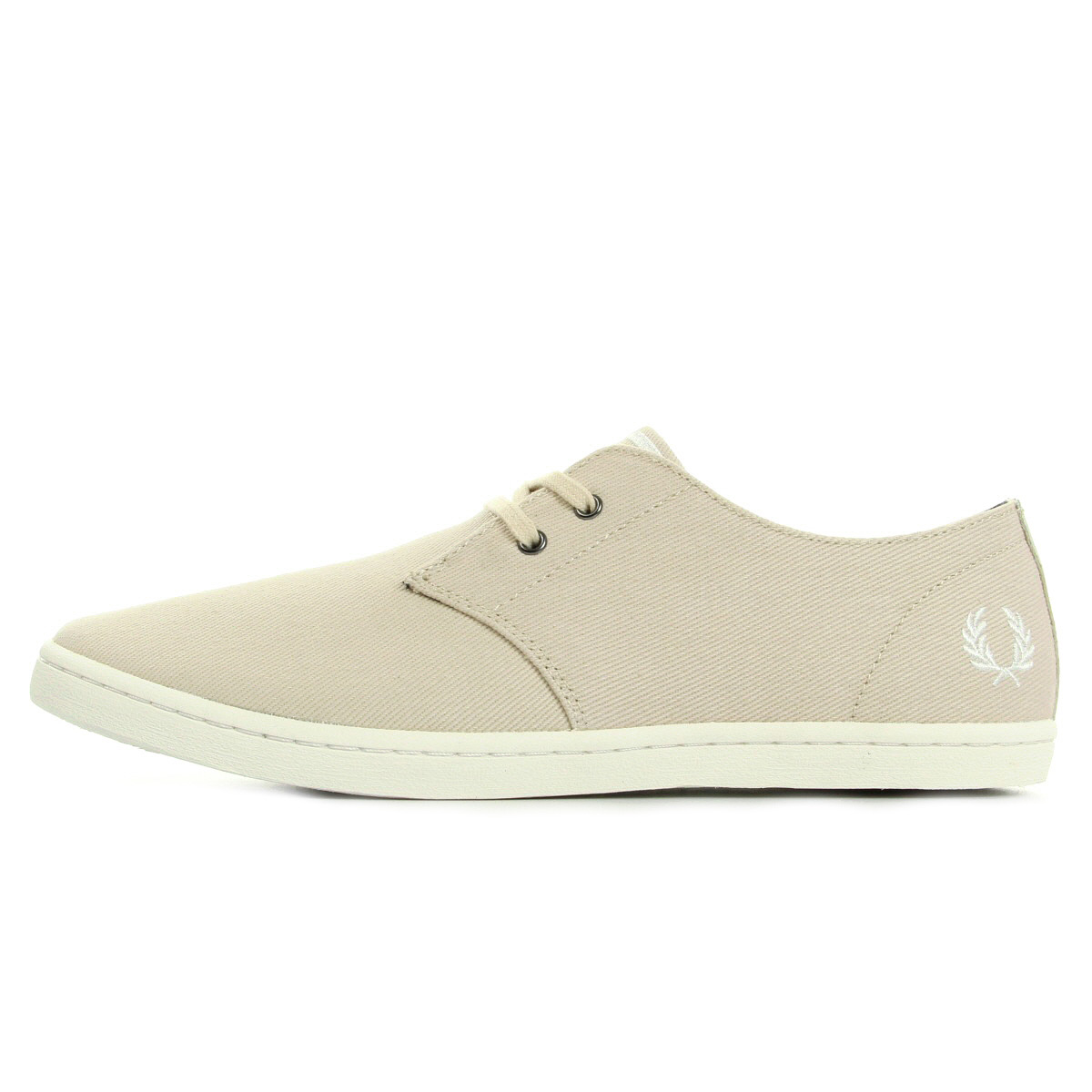 Fred Perry Byron Low Twill Natural Snow White B8233134, Baskets mode homme