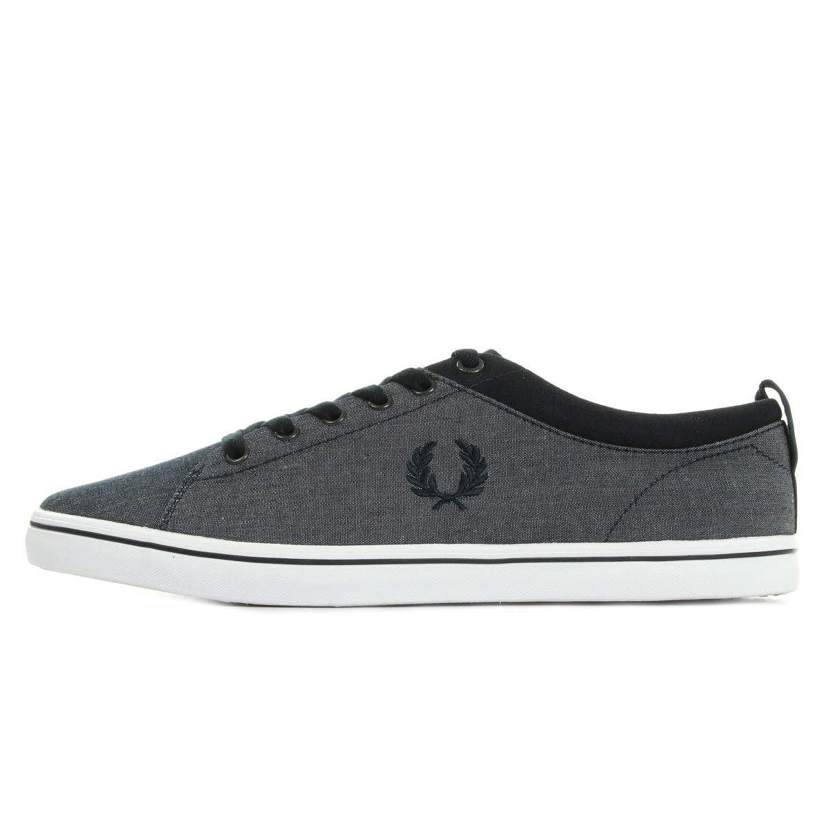 Fred Perry Hallam Chambray Navy Navy SB9360311, Baskets mode homme