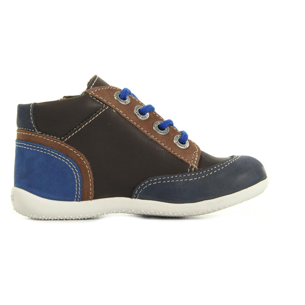 kickers barney marron camel bleu 5087101093 chaussures homme homme. Black Bedroom Furniture Sets. Home Design Ideas