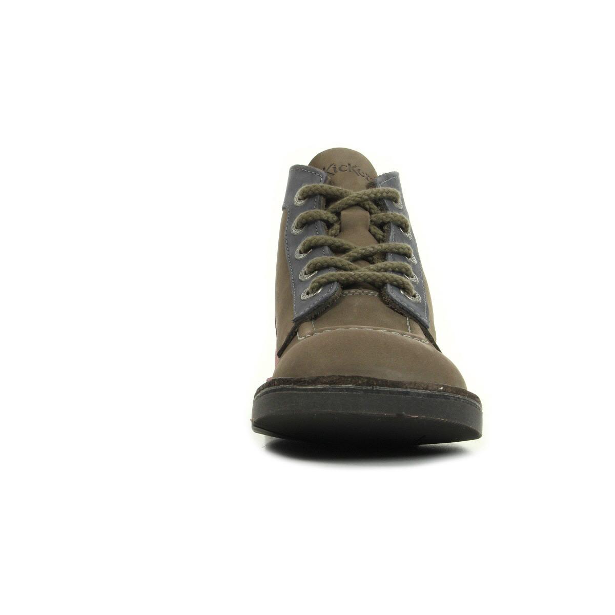 Kickers Kick Col Gris Bleu 39343830123, Bottines femme