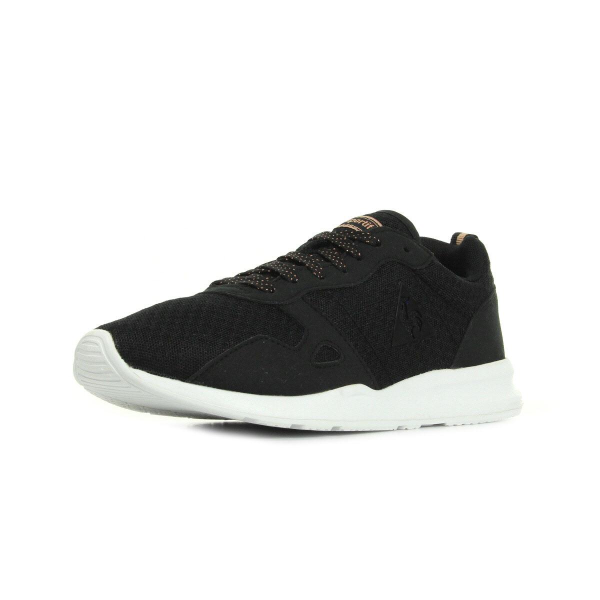 Le Coq Sportif Lcs R600 W Summer Feminine Mesh Black noir - Chaussures Basket Femme