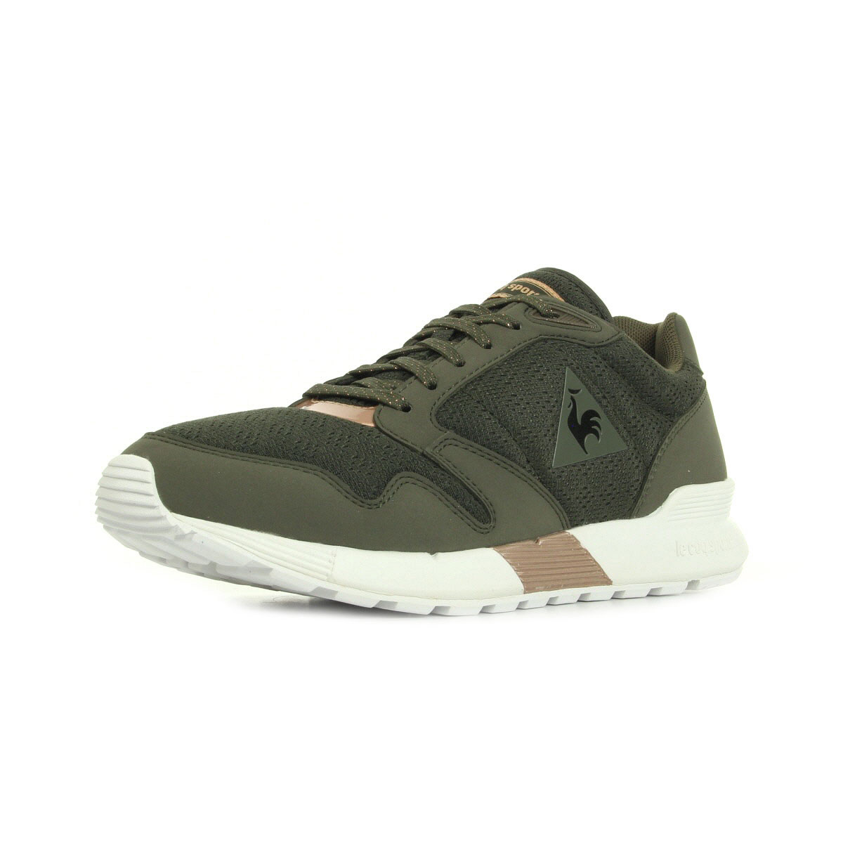 le coq sportif omega x w metallic olive night rose gold 1710748 chaussures homme homme. Black Bedroom Furniture Sets. Home Design Ideas