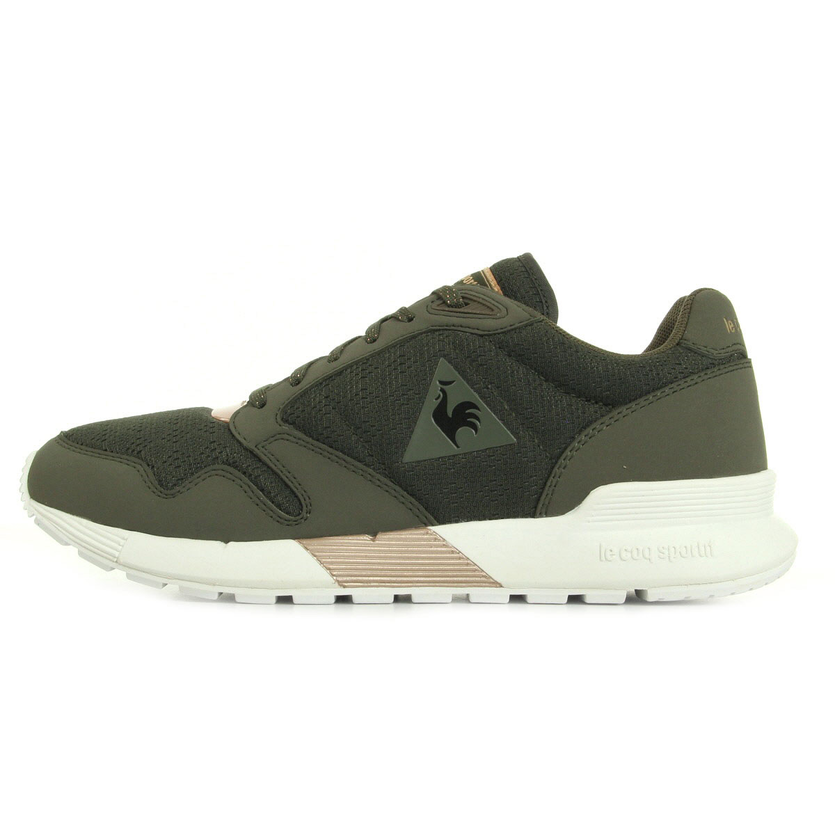 chaussures baskets le coq sportif femme omega x w metallic olive night rose gold ebay. Black Bedroom Furniture Sets. Home Design Ideas