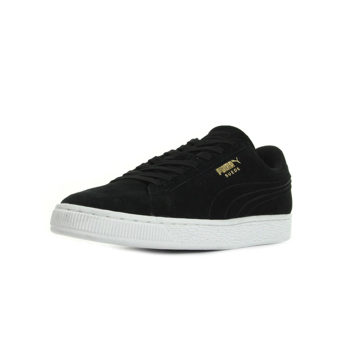 Chaussures Baskets Puma unisexe Suede Classic Citi Black taille Noir Noire Cuir