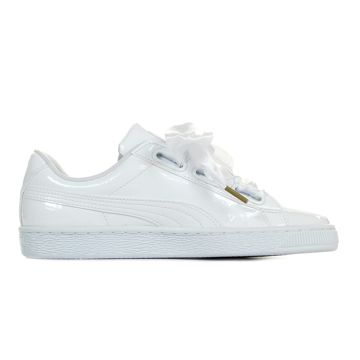 Details about Puma shoes sneakers woman basketball heart patent wns white size white show original title