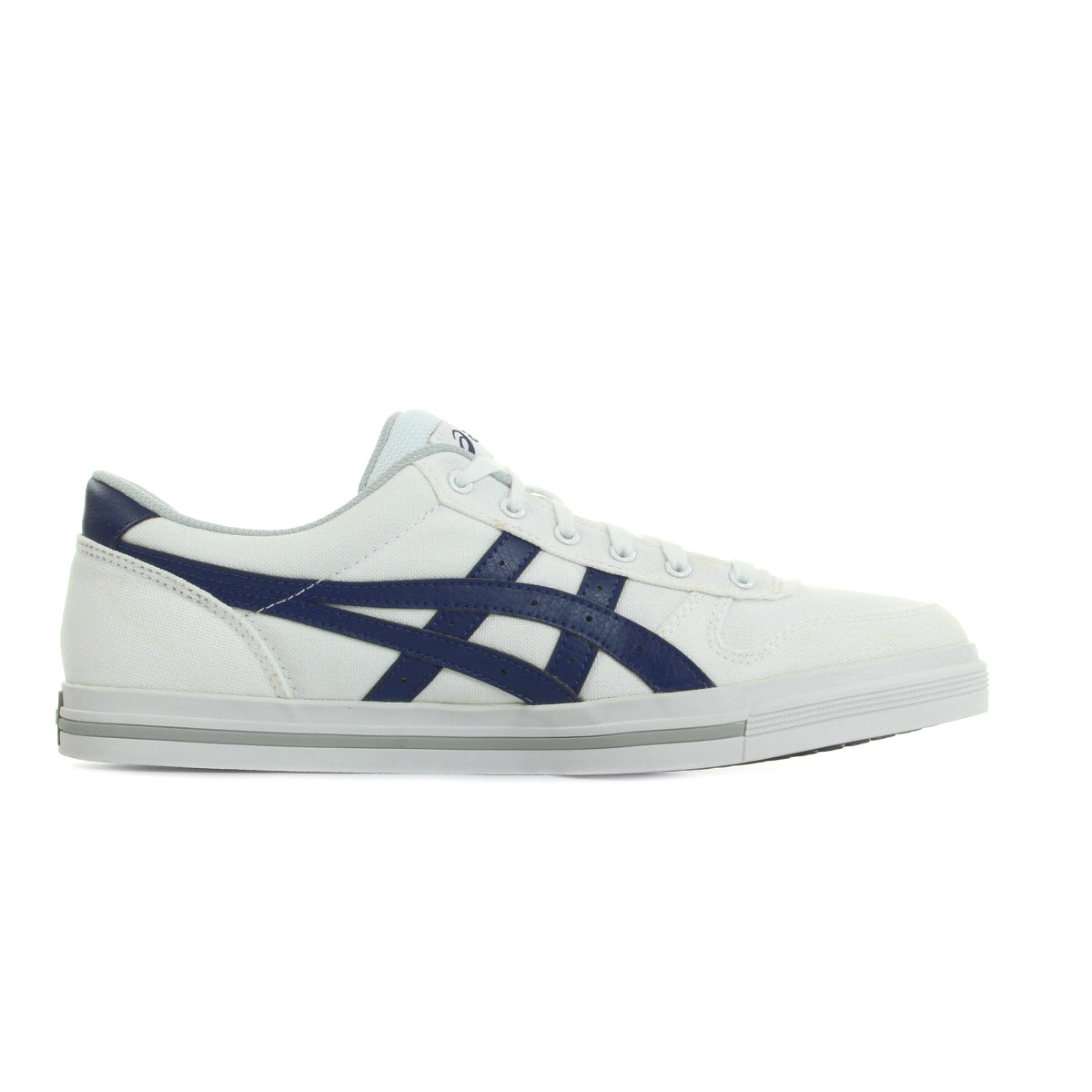 Details about Chaussures Baskets Asics homme Aaron White Blue taille Blanc Blanche Textile