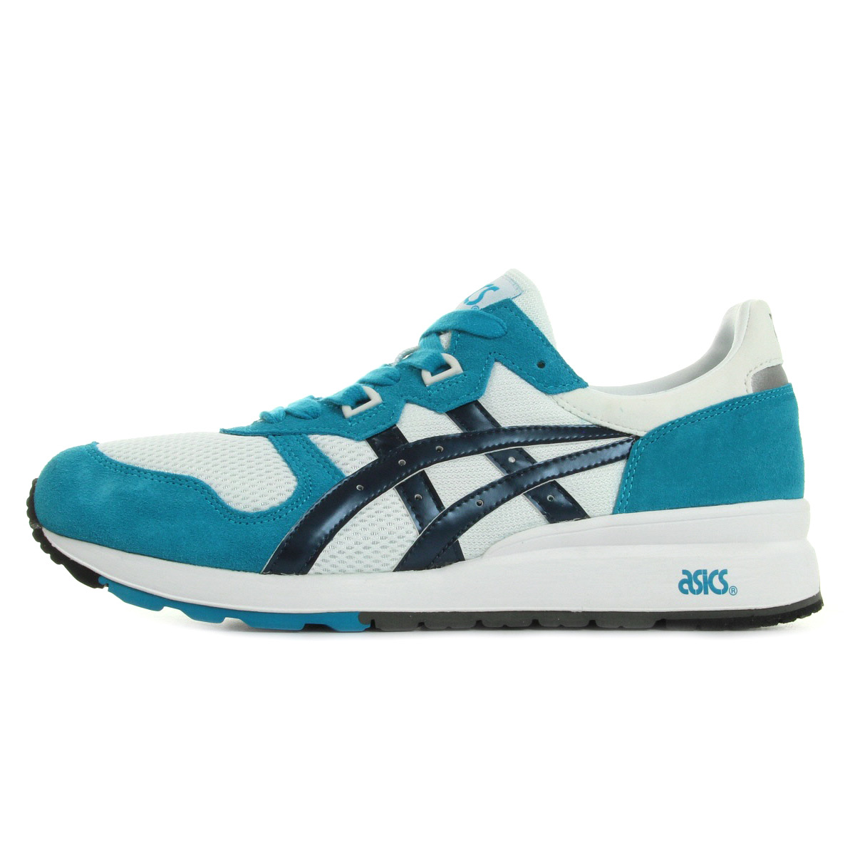 chaussures baskets asics homme gel epirus taille turquoise cuir lacets ebay. Black Bedroom Furniture Sets. Home Design Ideas