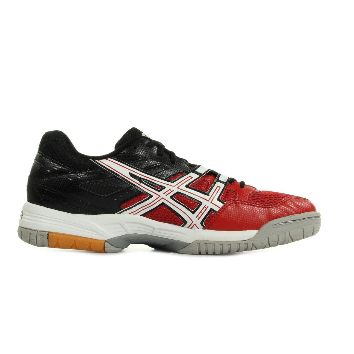 chaussures asics homme gel rocket 6 handball taille noir noire textile lacets. Black Bedroom Furniture Sets. Home Design Ideas