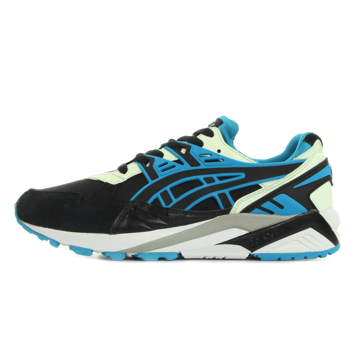 chaussures baskets asics homme gel kayano trainer taille noir noire cuir lacets ebay. Black Bedroom Furniture Sets. Home Design Ideas