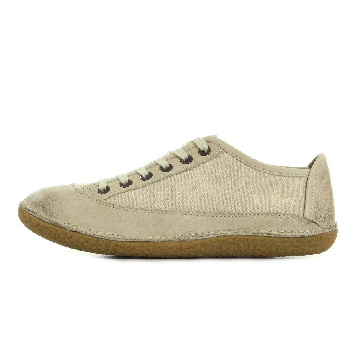 Kickers Hollyday Blanc Casse 4199545031, Baskets mode femme