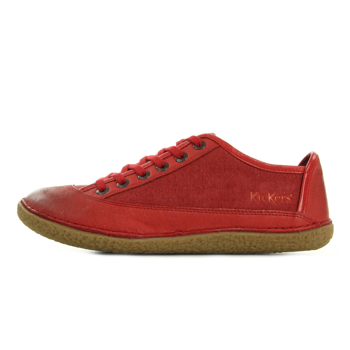 Kickers Hollyday Rouge 419954504, Baskets mode femme