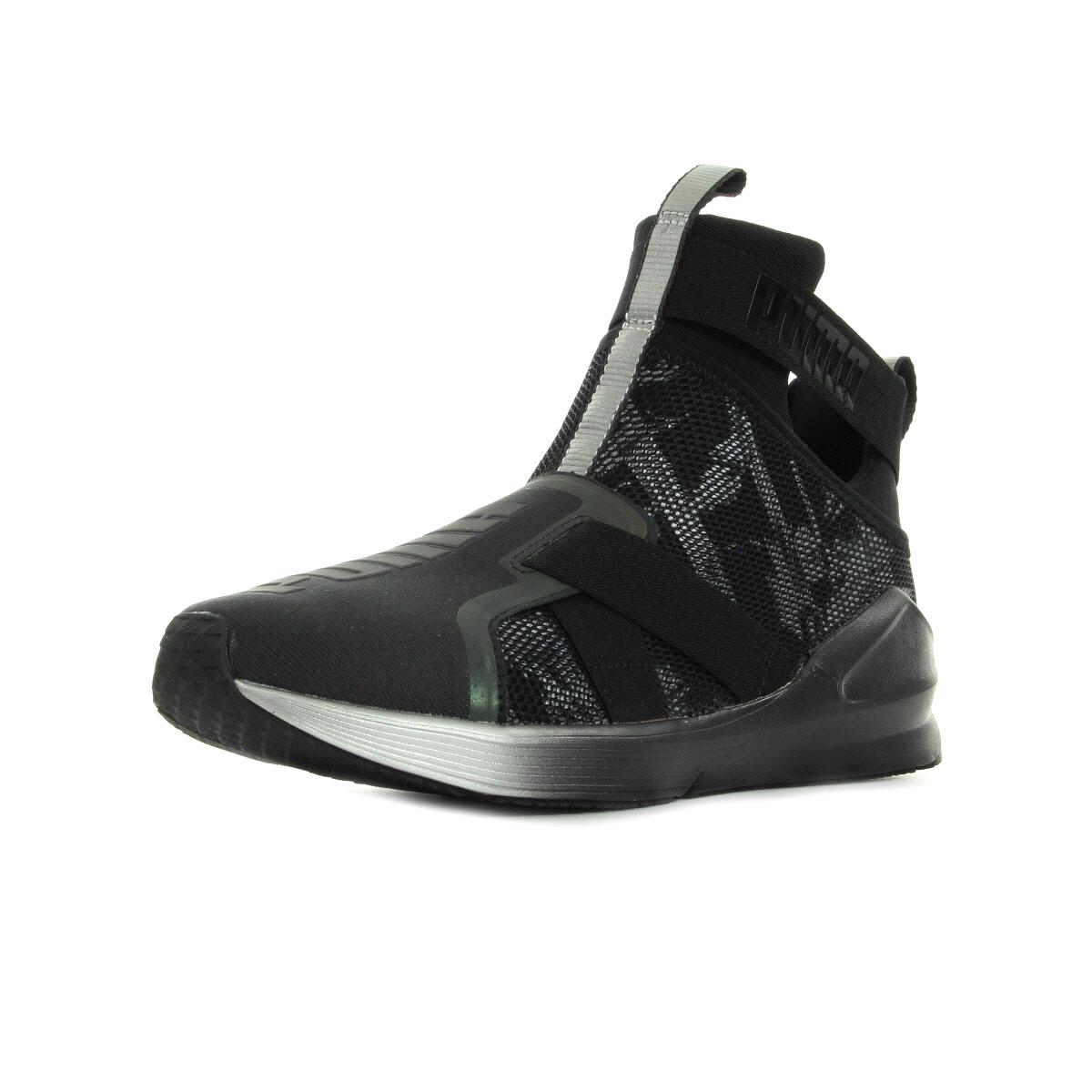Chaussures Baskets Puma femme Fierce Strap Swan taille Noir Noire Textile A