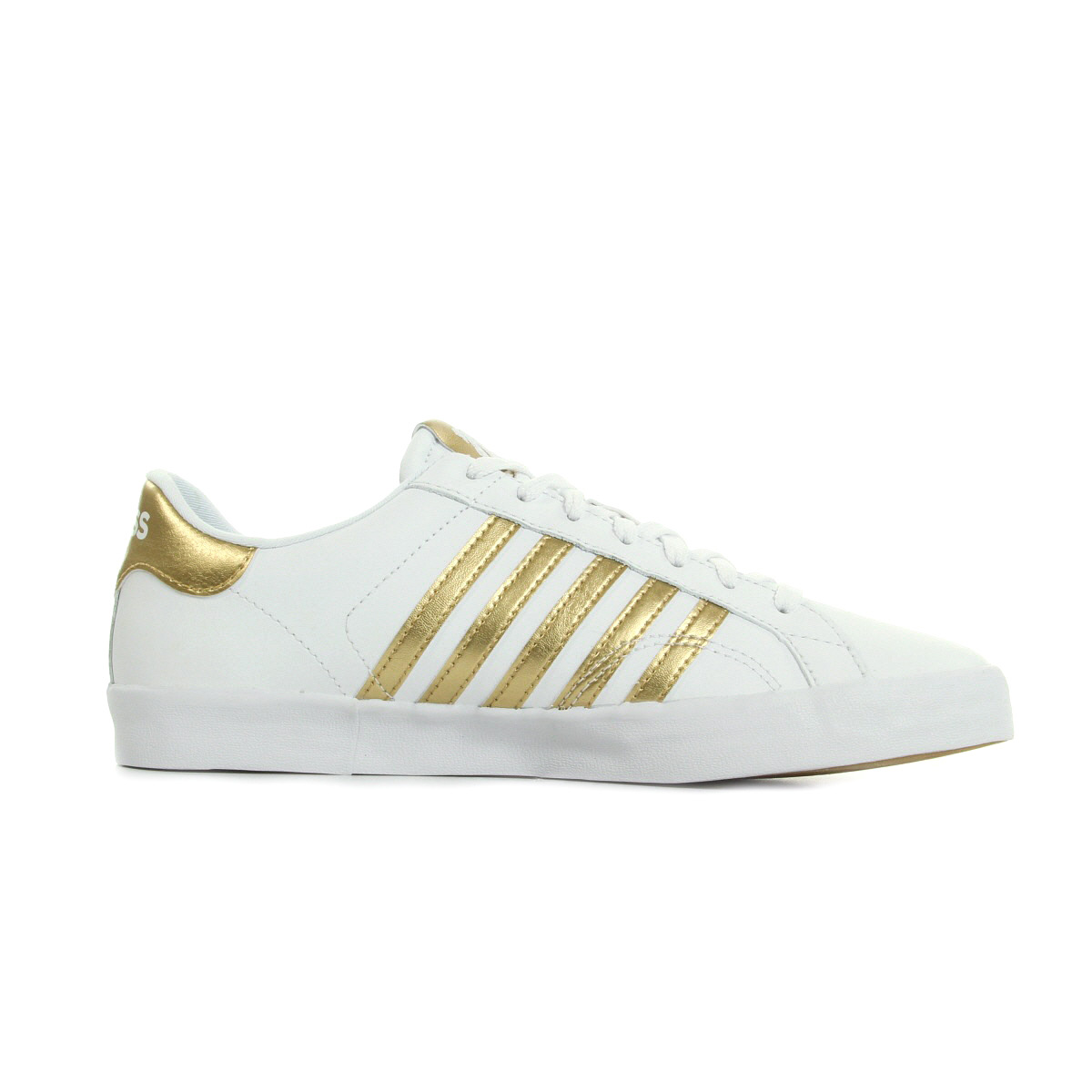 K-Swiss Belmont So White/Gold 73817A98, Baskets mode femme